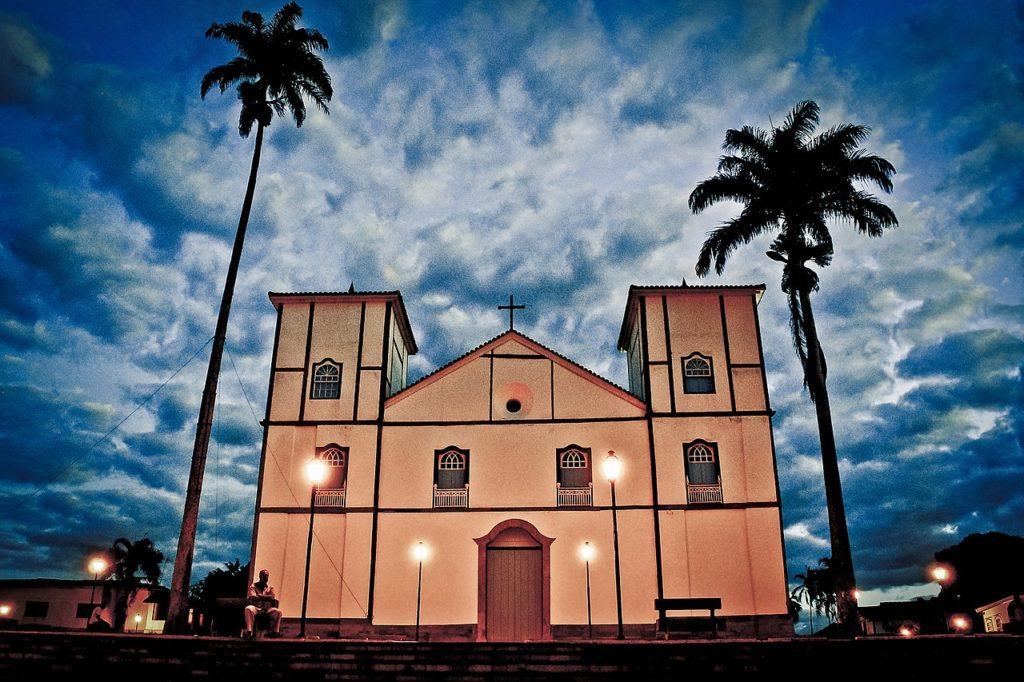 Vista da Igreja Matriz Nossa Senhora do Rosário, em Pirenópolis