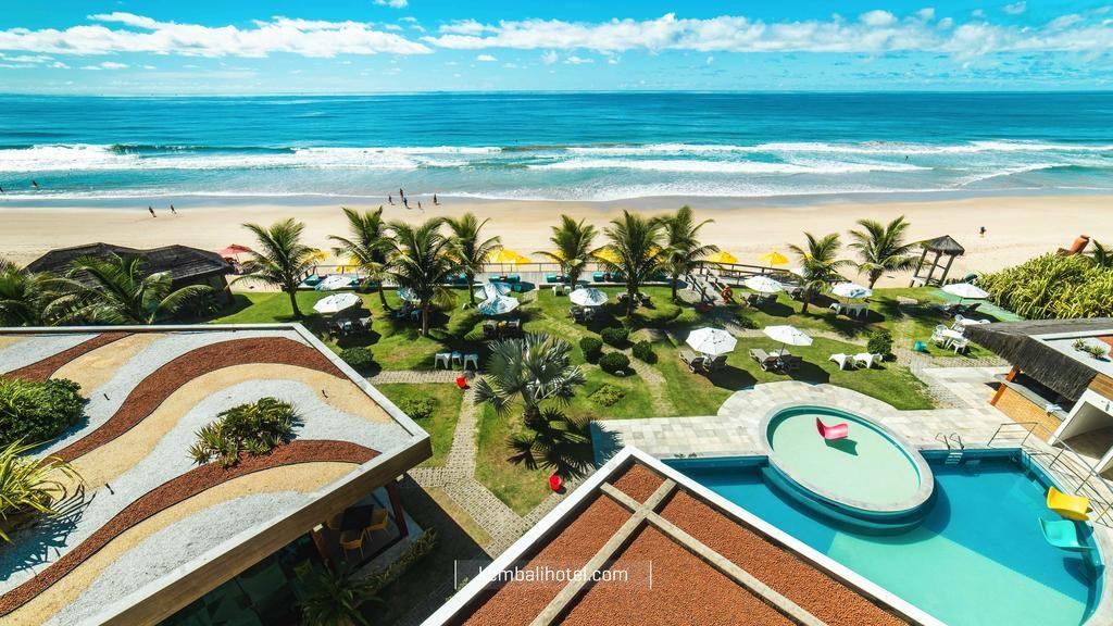 vista da praia do Kembali Hotel na lua de mel em porto de galinhas