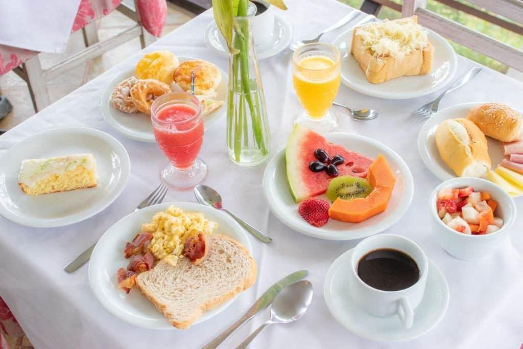Café da manhã Pousada Le Siramat