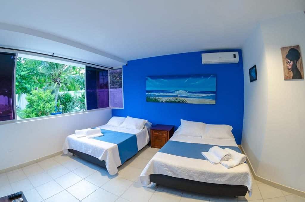 Mahalo House quarto - onde ficar em San Andres