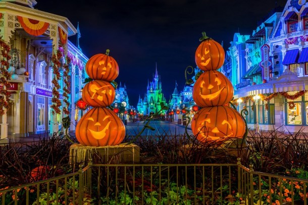 Decoração da Mickey's Not So Scary Halloween Party no Magic Kingdom