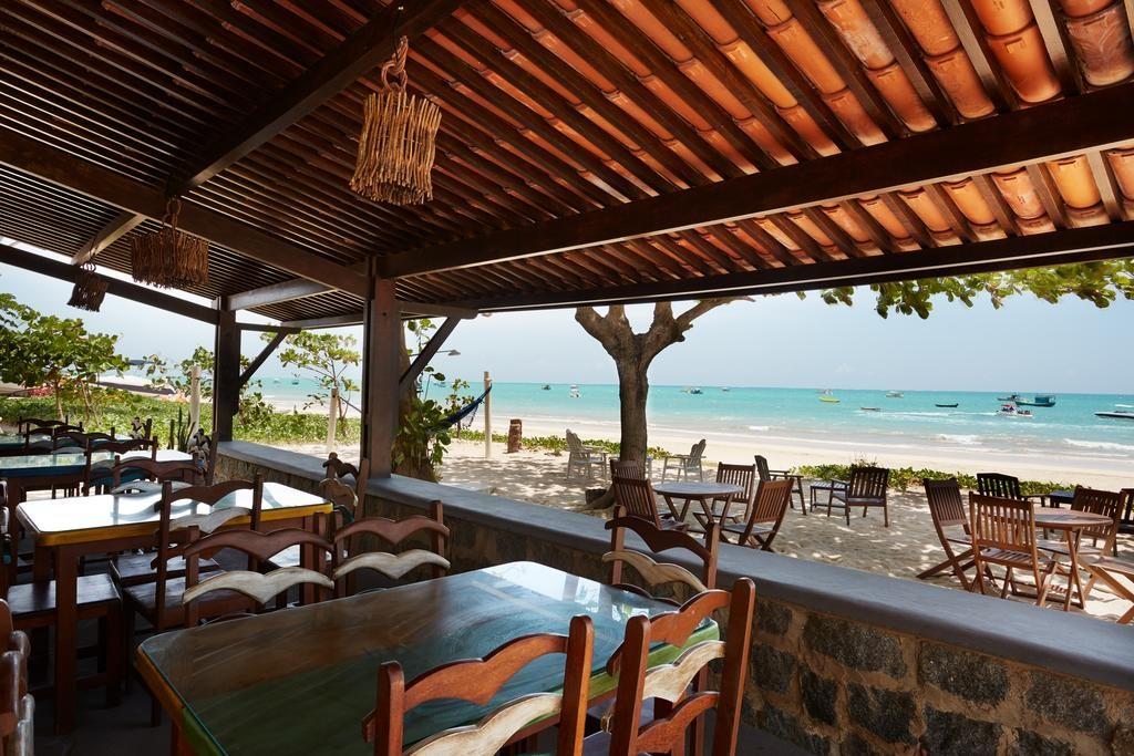 restaurante com vista para o mar Pousada Odoiá Maragogi