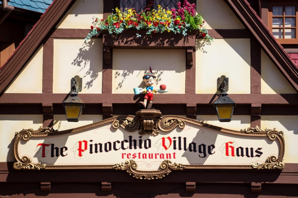 Placa do Pinocchio Village Haus
