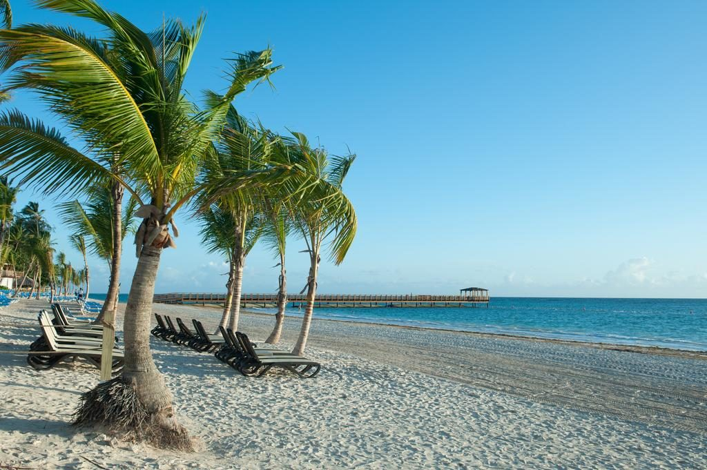A Praia Bavaro vista da Impressive Resort