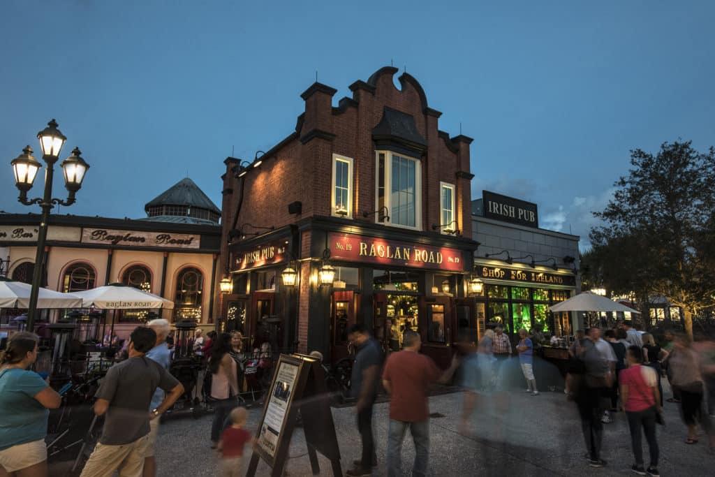 O Pub Irlandês na Disney Springs - Raglan Road