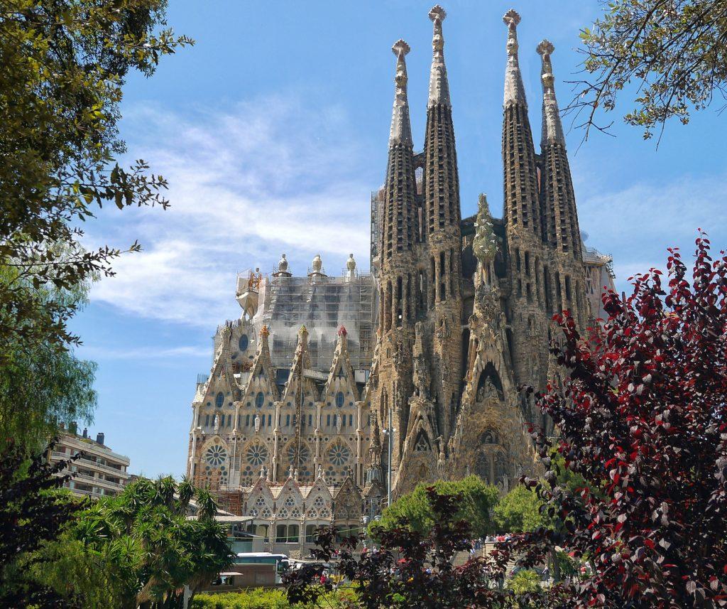 A Sagradas Família, um dos cartões postais de Barcelona na Espanha