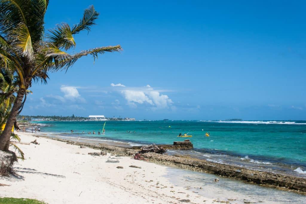 Praia de San Luis, opção de onde ficar em San Andres