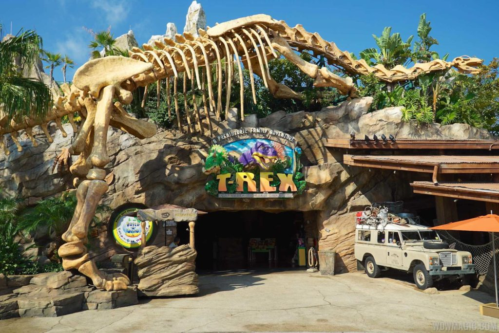 Entrada do T-Rex na Disney Springs