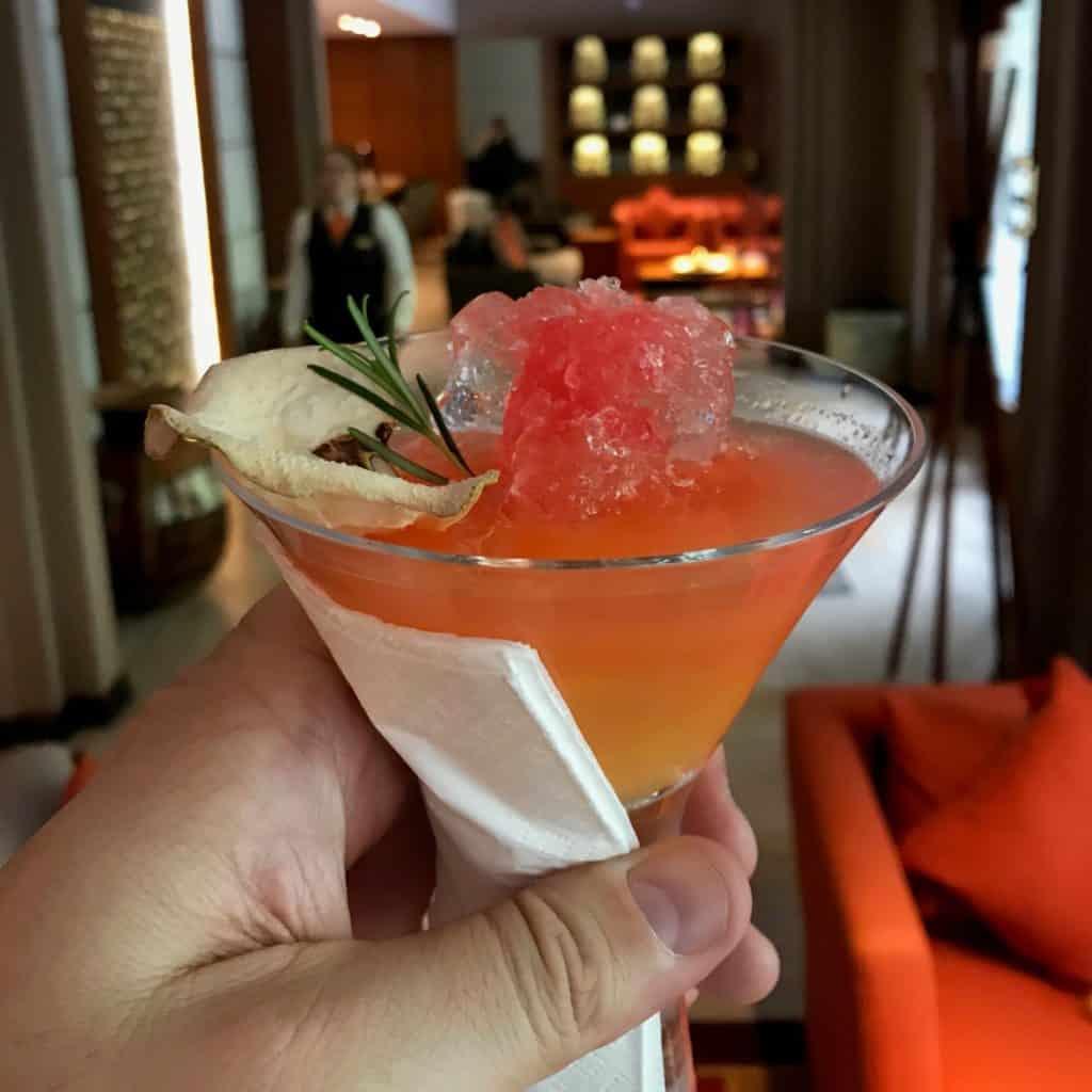 Foto do welcome drink no Sumaq Hotel