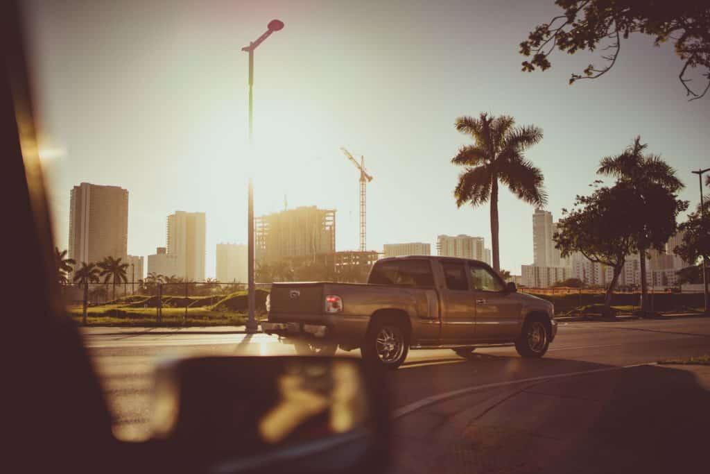Picape é uma das opções de alguel de carros em Miami