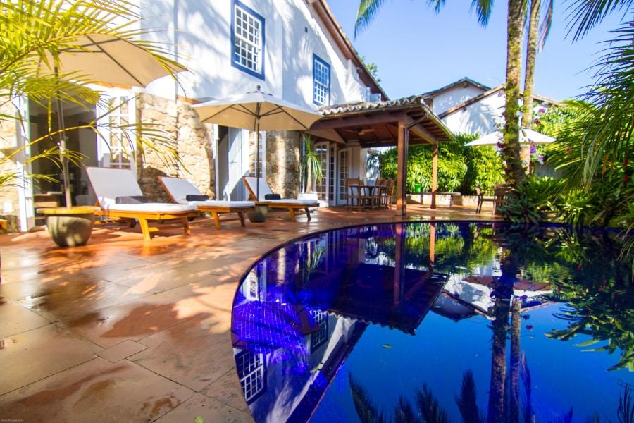 piscina na Casa Colonial Paraty