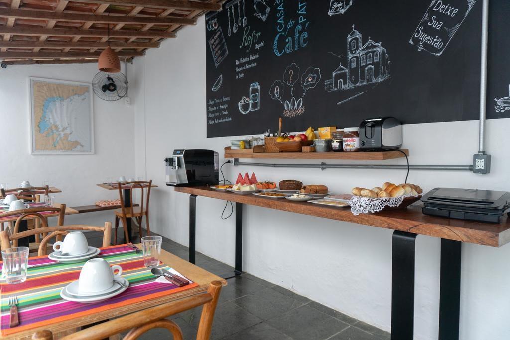 Área do café da manhã na Casas do Pátio Pousadas em Paraty