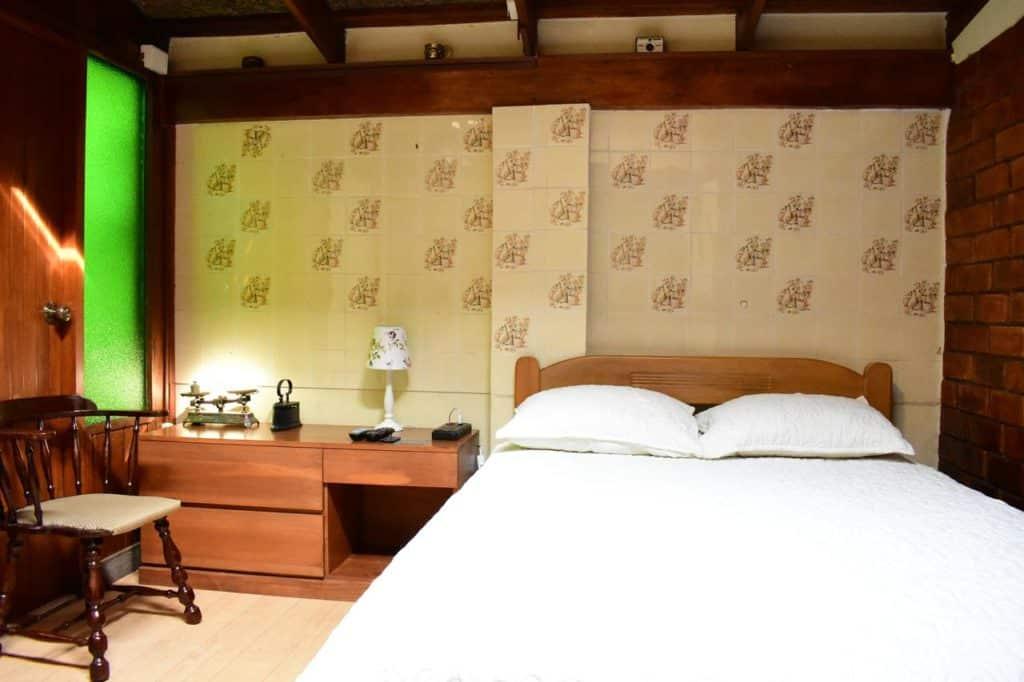 Quarto com cama de casal no D'Osma Bed & Breakfast