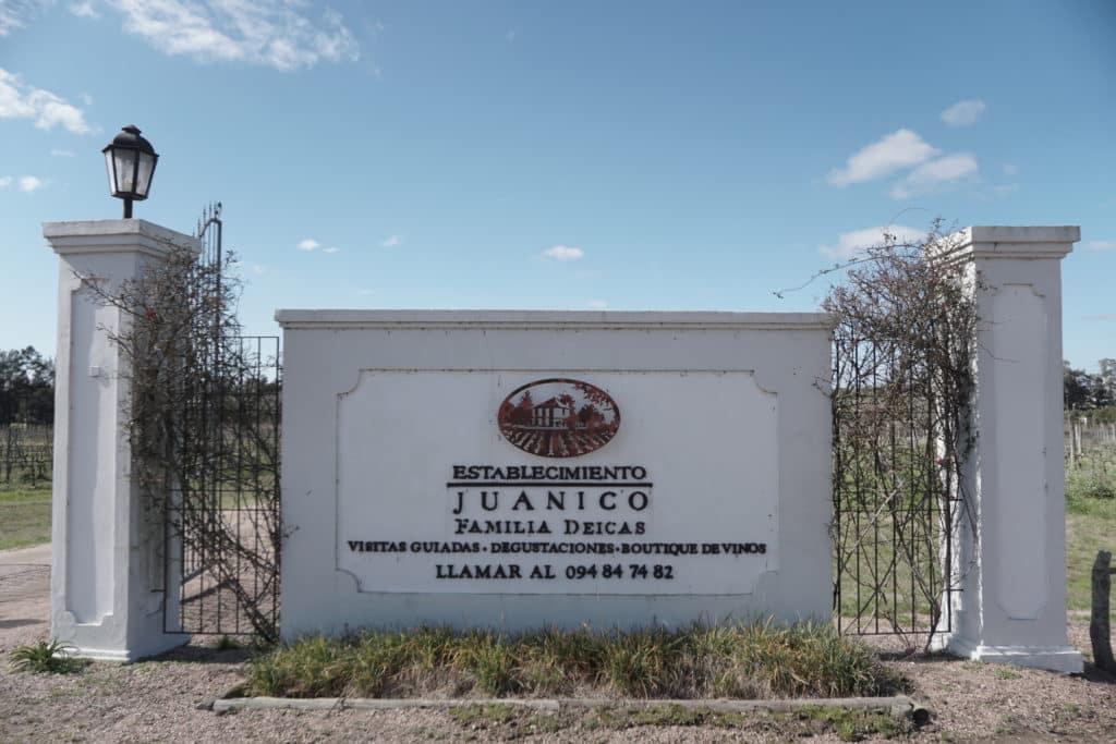 A Vinicola Establecimiento Juanicó e Familia Deicas na região de Montevideo no Uruguai