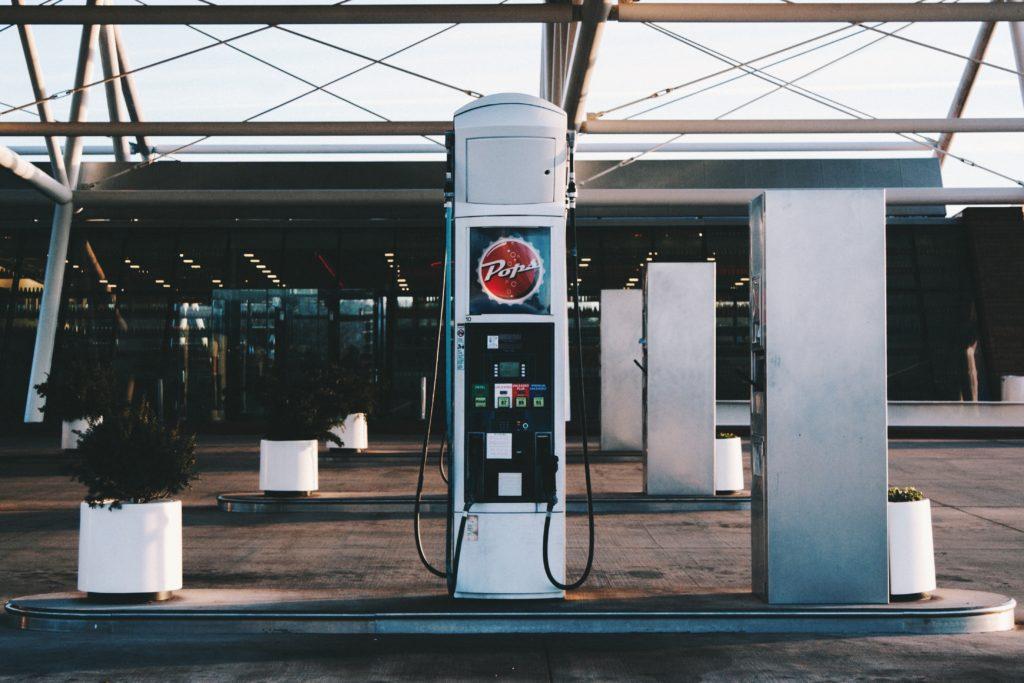 Bomba de gasolina para abastecimento nos Estados Unidos