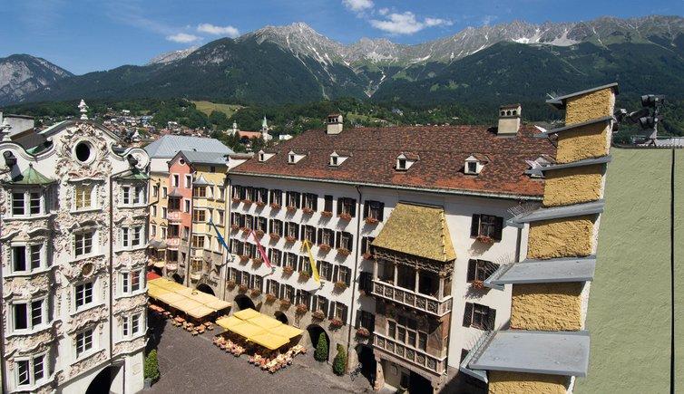 O Goldenes Dachl, um dos principais pontos turísticos de Innsbruck