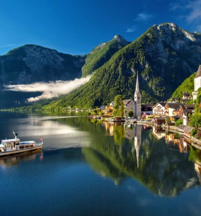 hallstatt austria - vista do lado