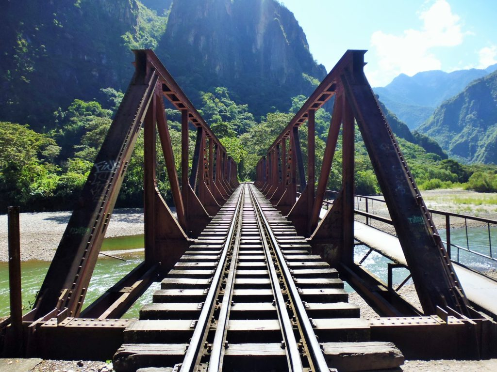 Inicio do Caminho da hidrelétrica para Machu Picchu