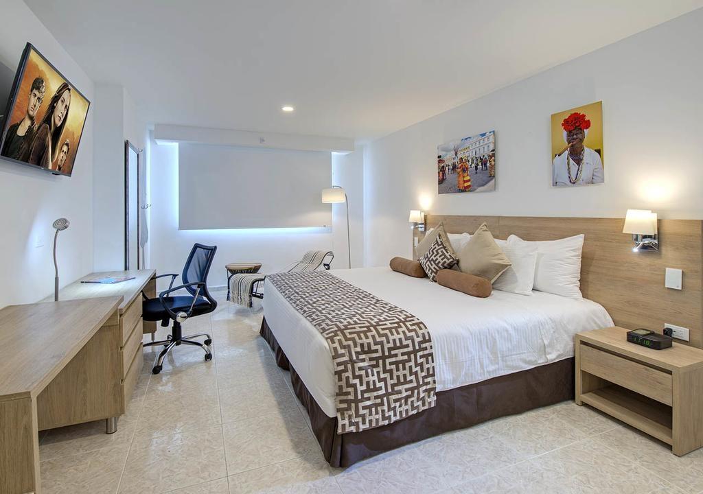 quarto de casal do Hotel Cartagena Plaza