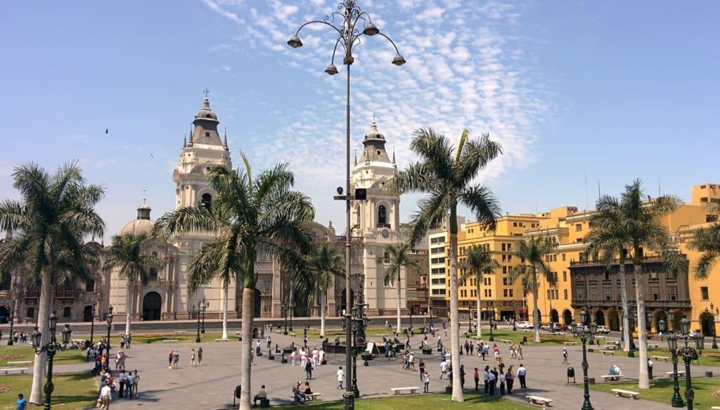 Foto do centro histórico de Lima