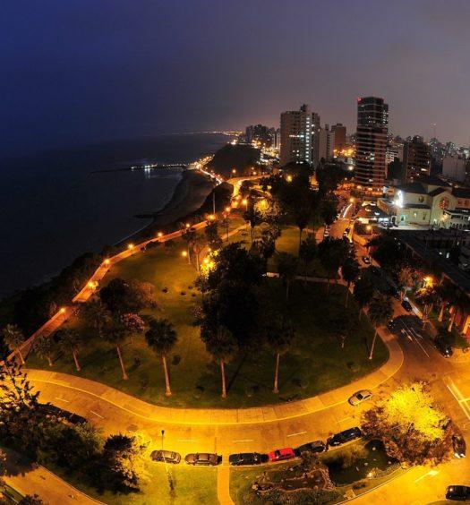 Vista de cima de Lima, no Peru