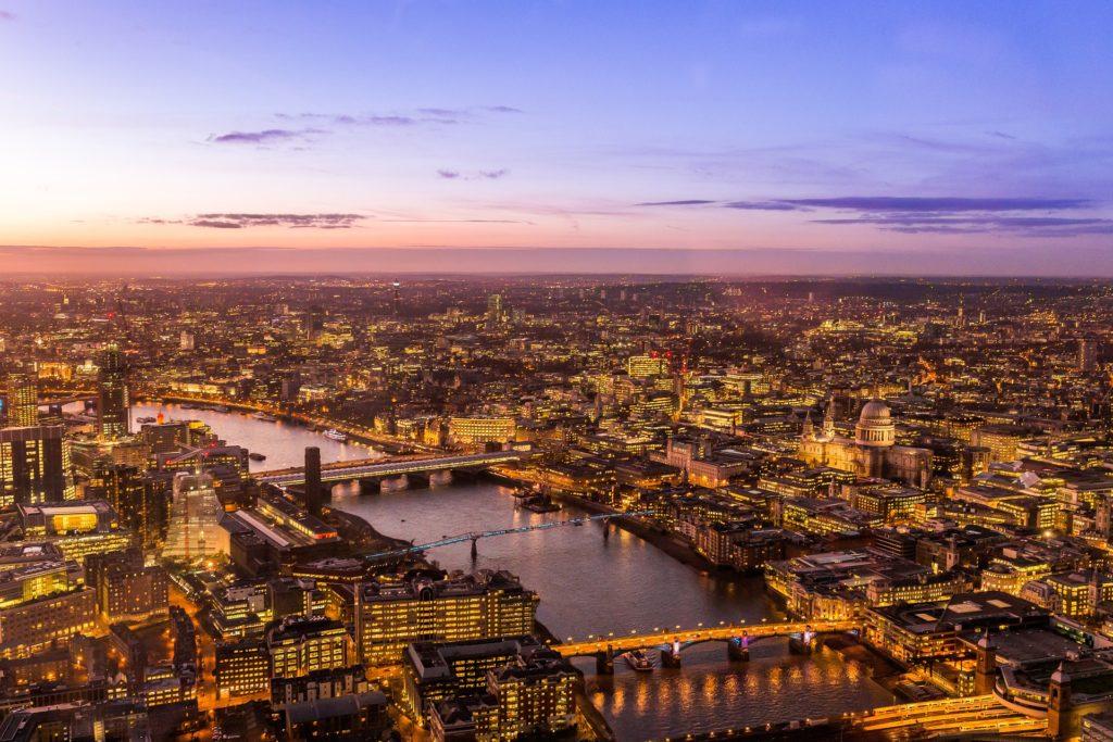 Londres vista de cima - hotéis baratos em londres