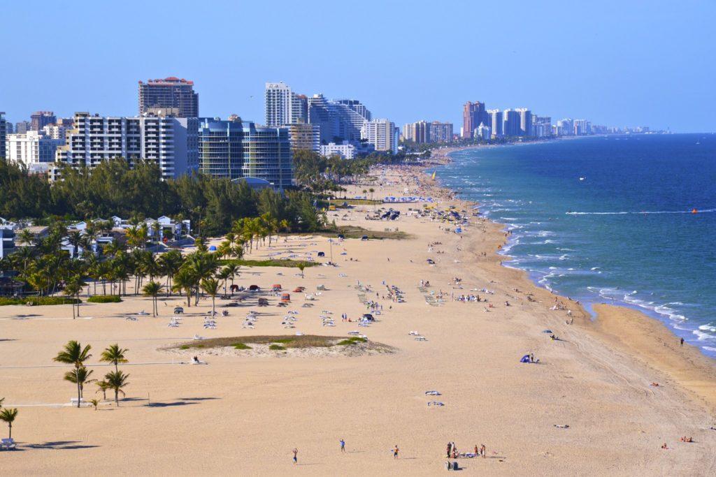 Foto de praia - aluguel de carros em Fort Lauderdale