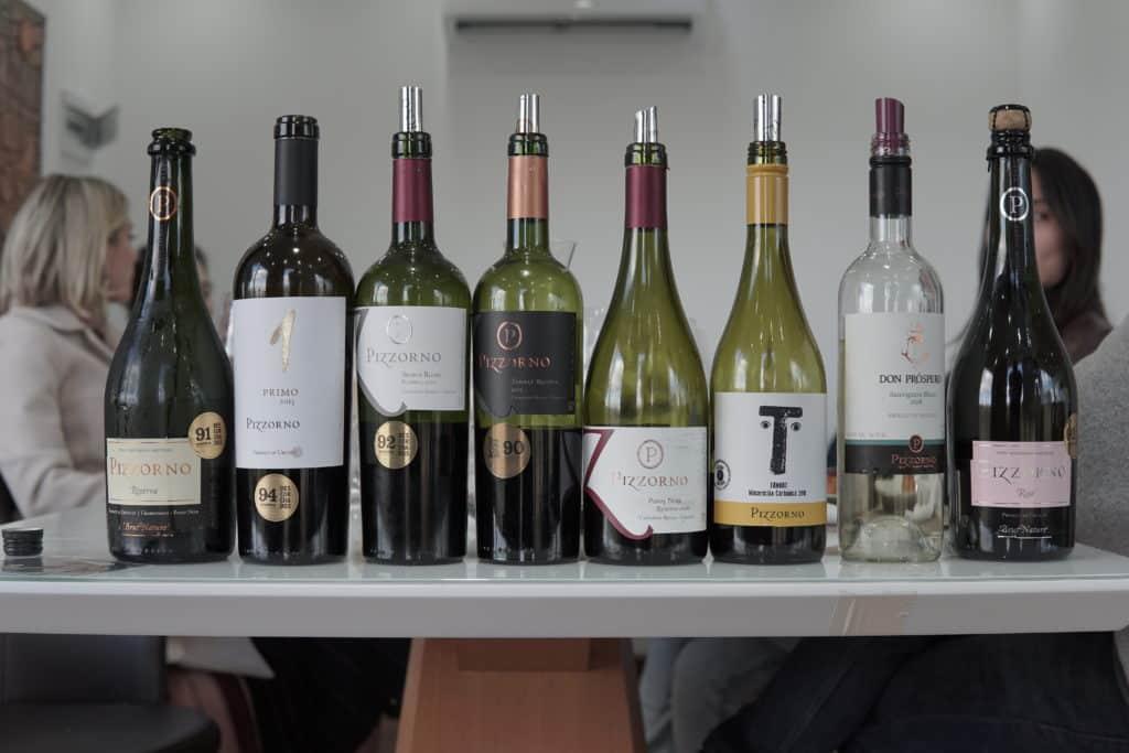 Degustação de vinhos na Pizzorno Family Estates