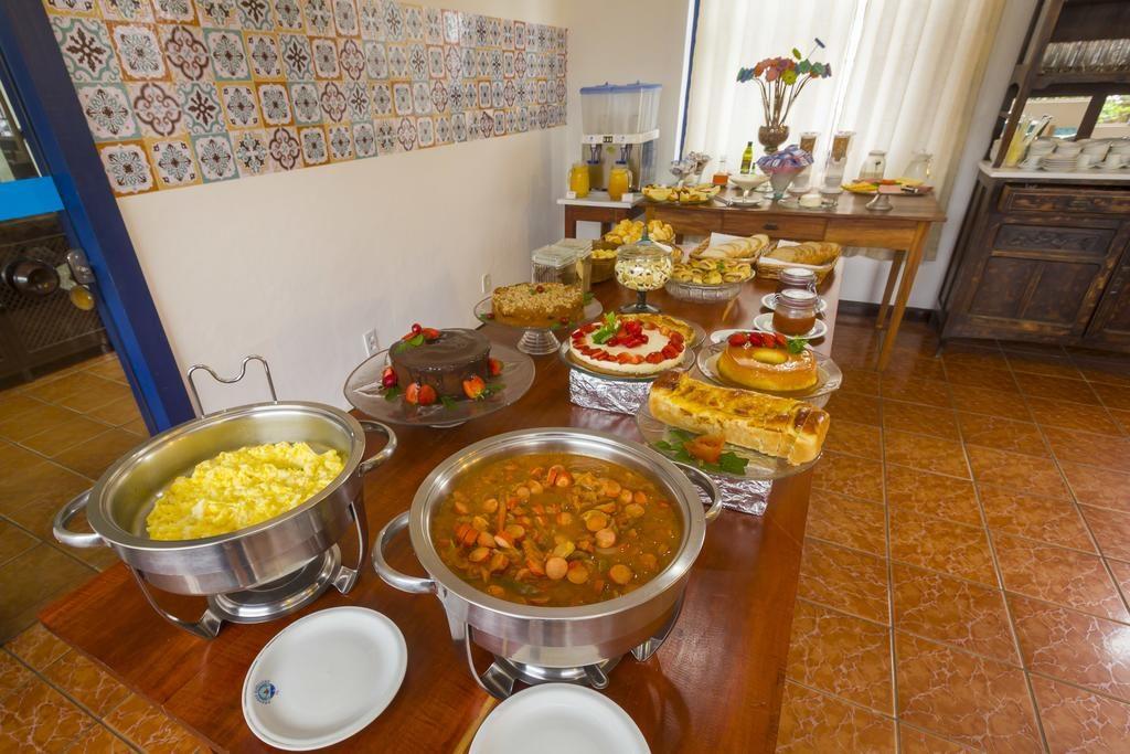 Café da manhã na Pousada Aconchego