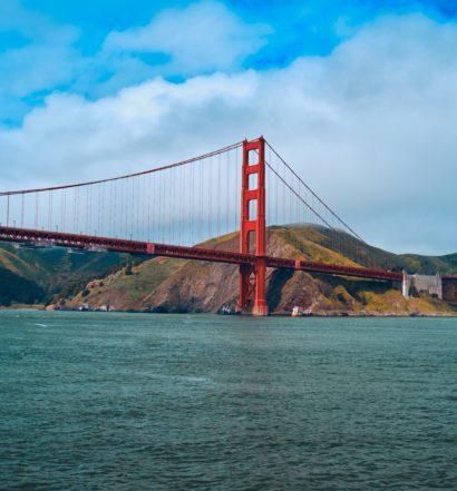 Foto da ponte cartão postal de San Francisco, a Golden Gate