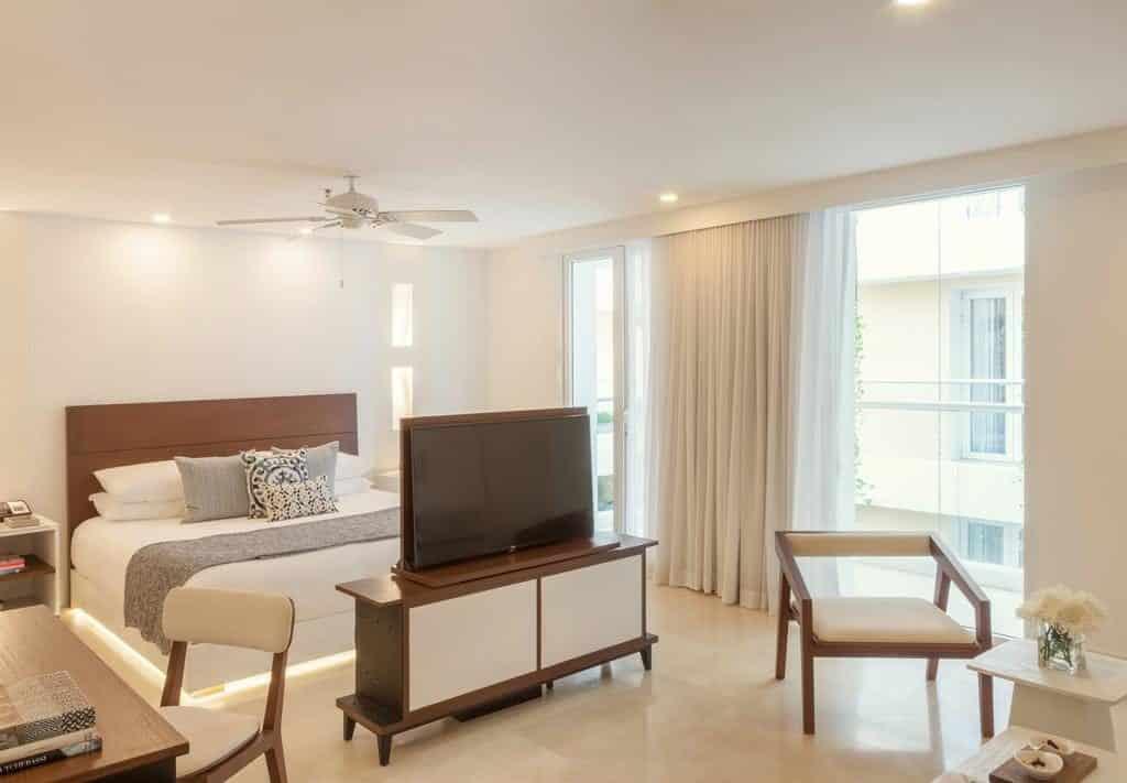 Quarto do hotel Tcherassi Hotel & Spa em Cartagena Colombia