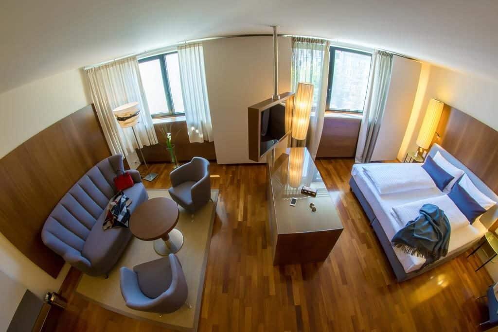 Quarto do The PENZ Hotel em Innsbruck Austria