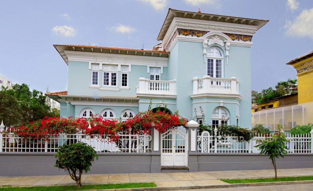 Casa do Villa Barranco, com arquitetura colonial, opção de onde ficar em Lima