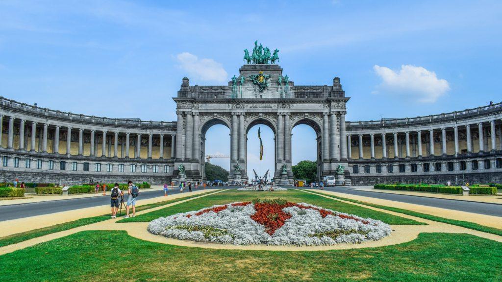Parque do Cinquentenário em Bruxelas na Bélgica