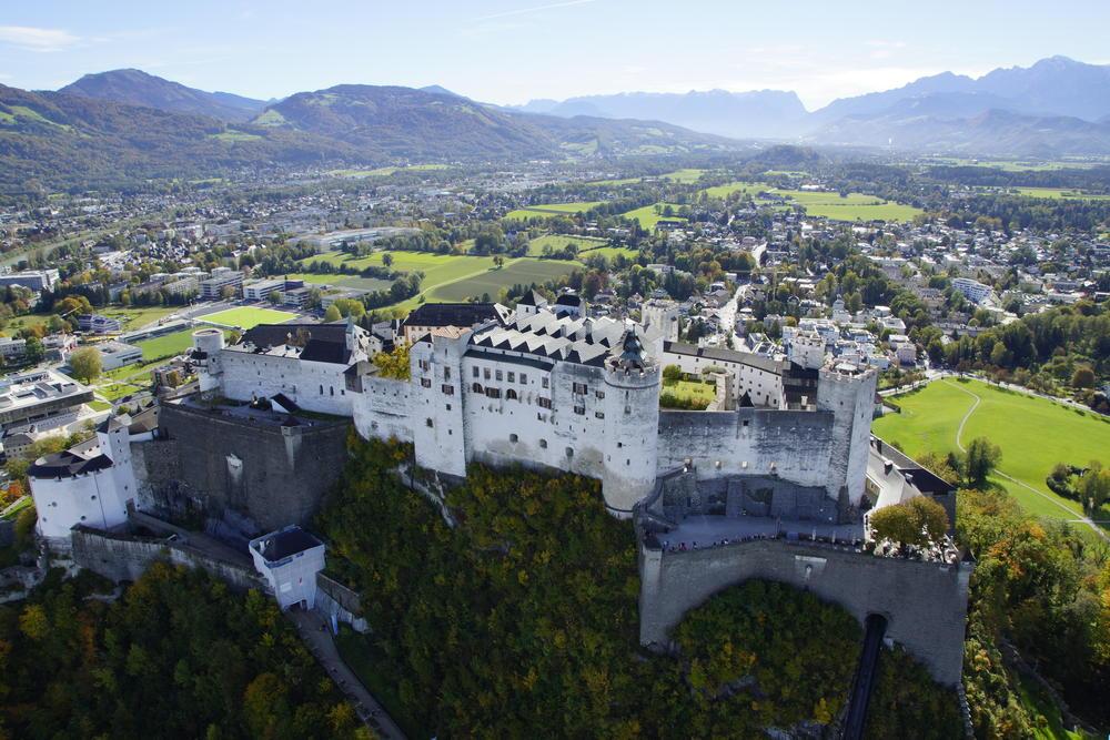A cidade de Salzburg Áustria
