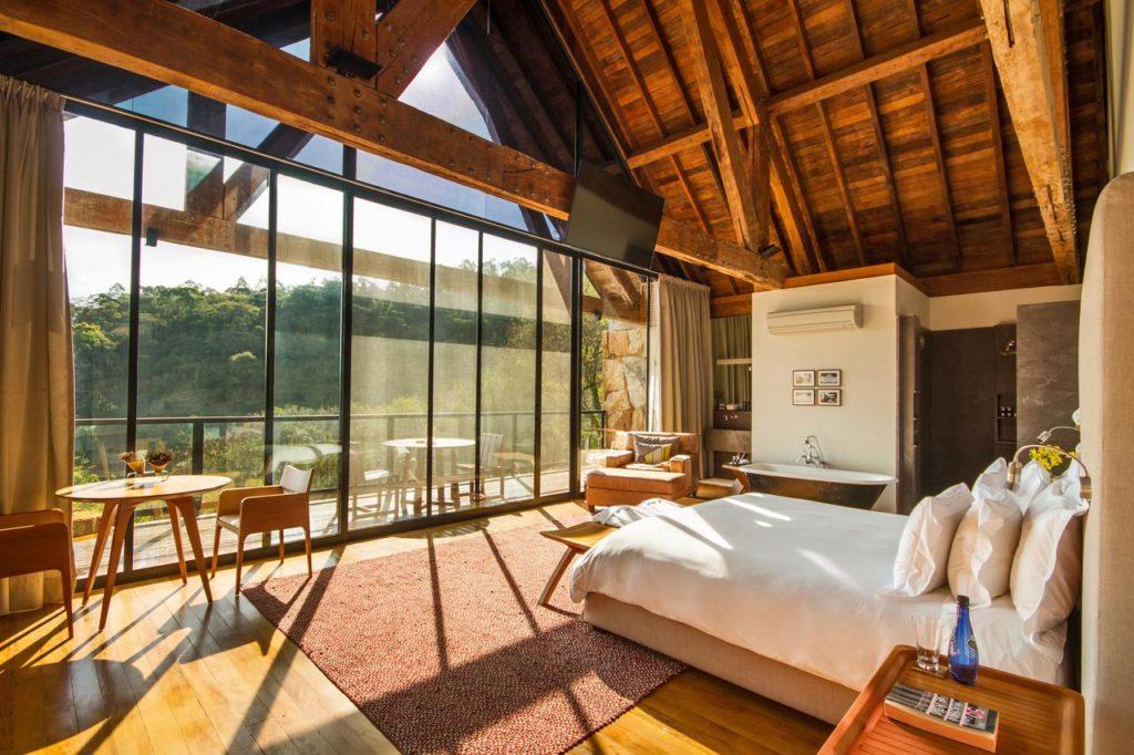 quarto do Botanique Hotel & Spa em campos do jordao