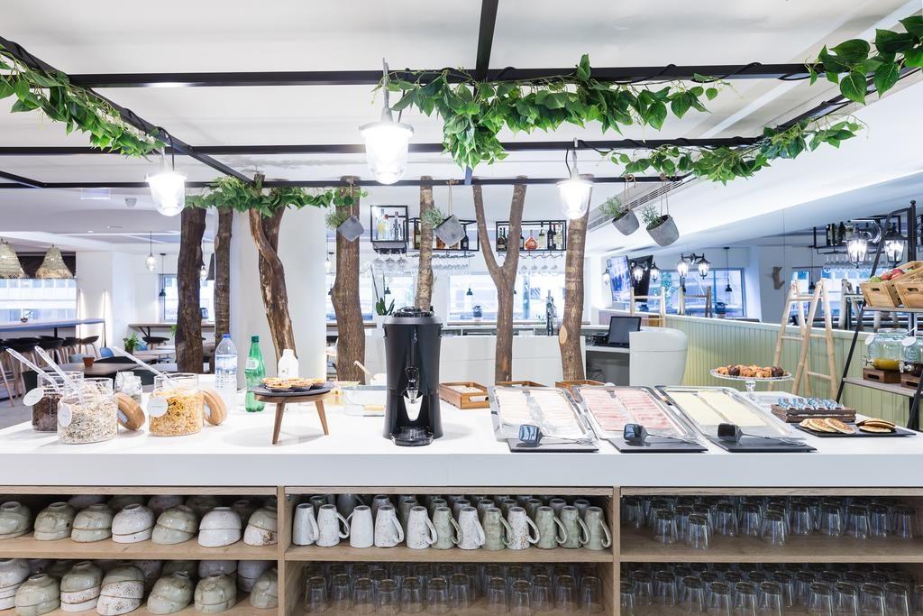 Opções para o café da manhã no Ibis Styles Marquês de Pombal
