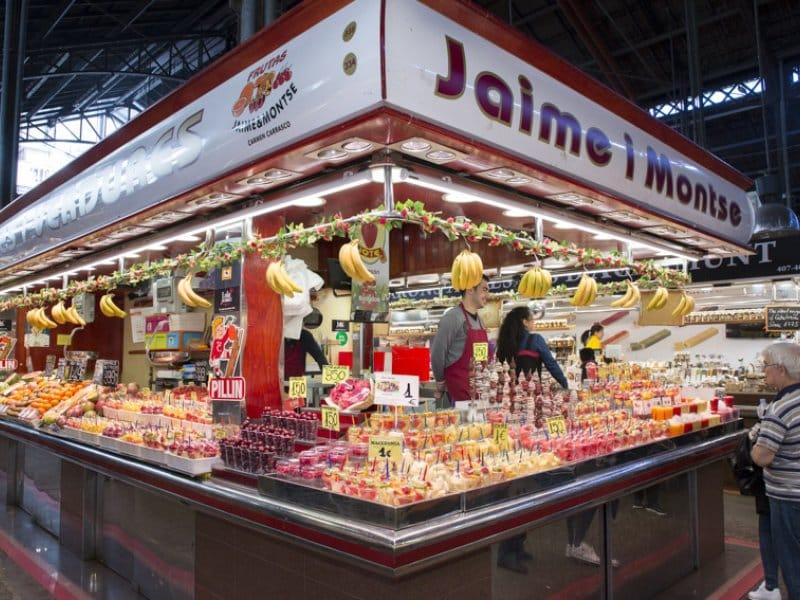 Foto do estande Jaime i Montse no mercado de Barcelona