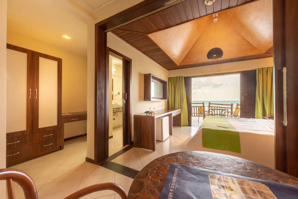 Quarto do Ocean Palace Beach Resort & Bungalows em Natal para a sua lua de mel