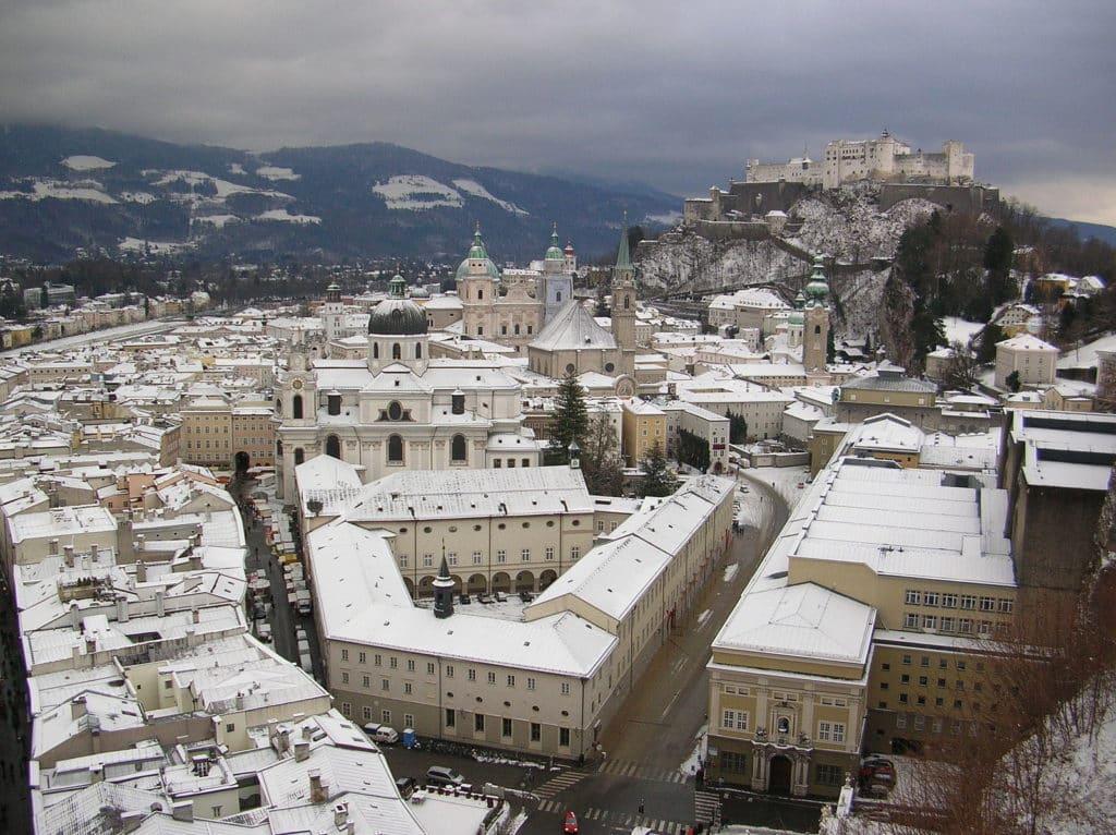 Salzburg em Janeiro no Inverno - Foto: Commons Wikimedia