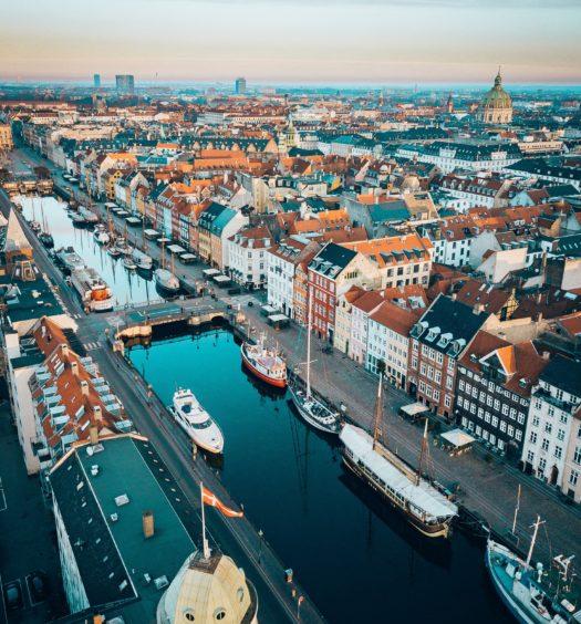 Seguro Viagem Dinamarca - Vista aérea de Copenhagen