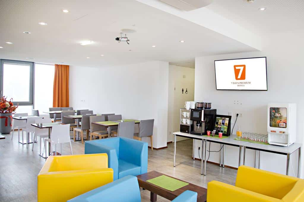 Restaurante do 7 Days Premium Hotel Linz