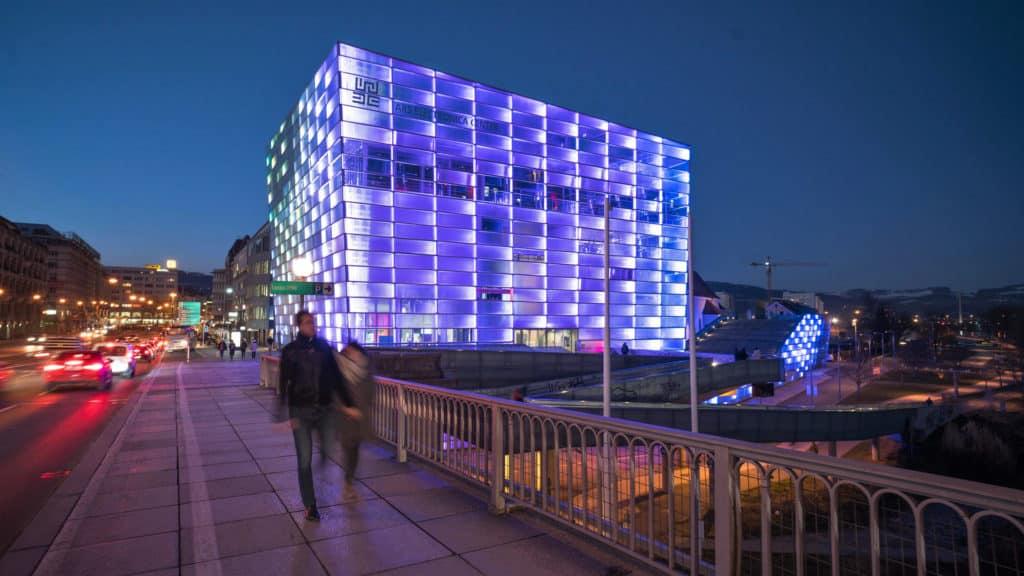 A Ars Electronica Center, também conhecida como Museu do Futuro em Linz na Áustria - Foto: Ars Electronica via Flickr