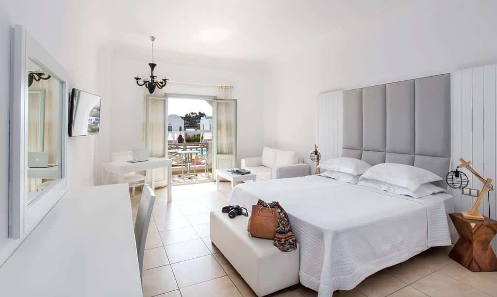 Quarto do do Astro Palace Hotel & Suites - Onde ficar em Santorini Fira