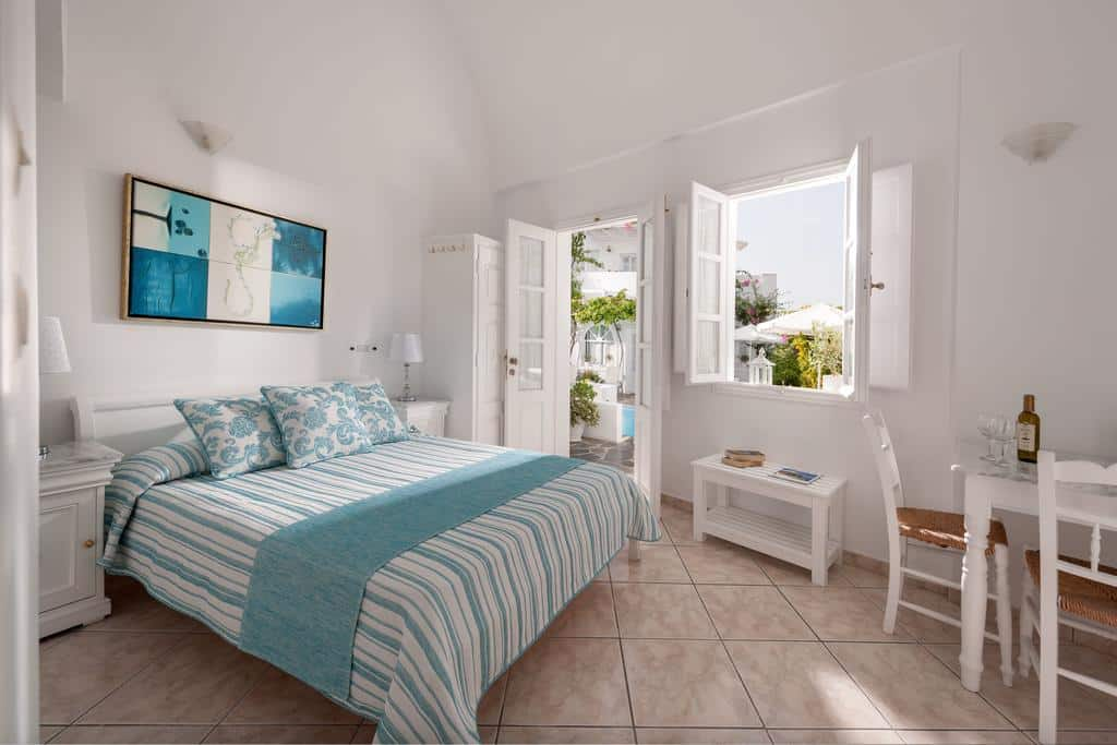 Quarto casal na Casa Bianca em Santorini