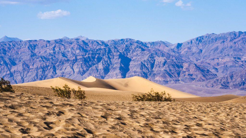 Foto da paisagem arenosa no Death Valley National Park