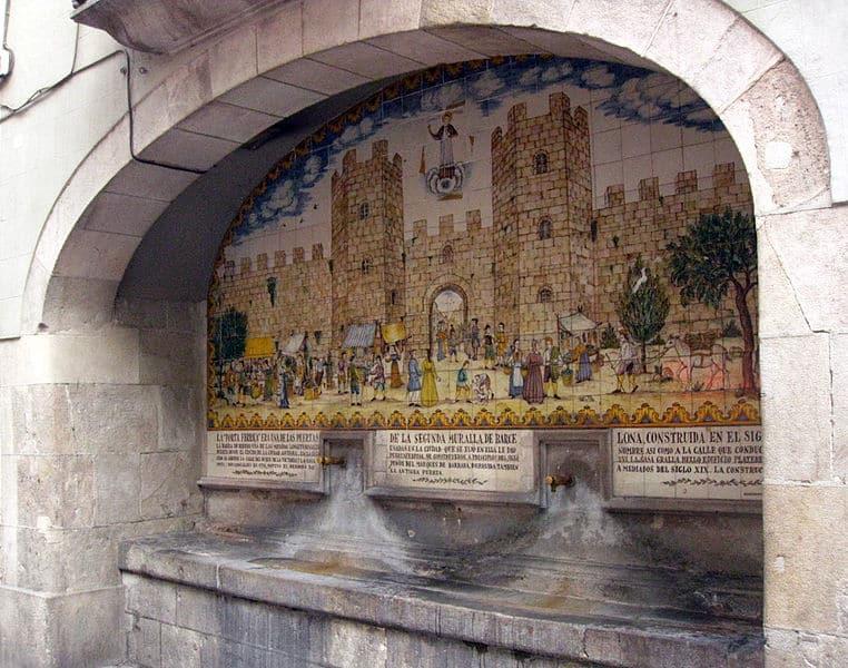 Font de la Portaferrissa na avenida Las Ramblas