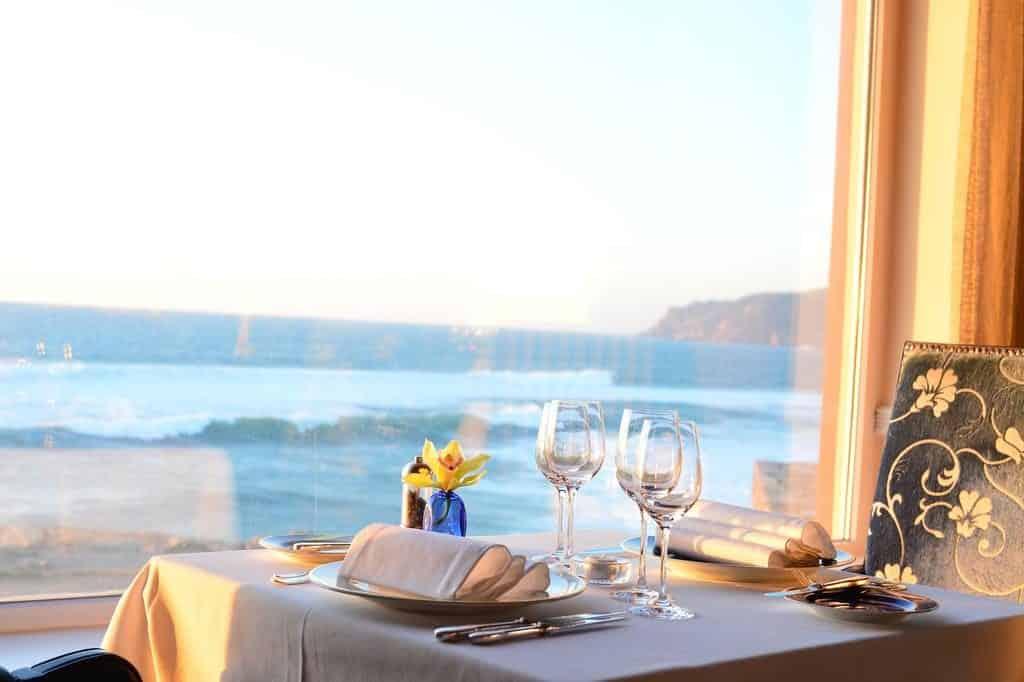 Restaurante com vista no Fortaleza do Guincho Relais & Châteaux - lua de mel em Portugal