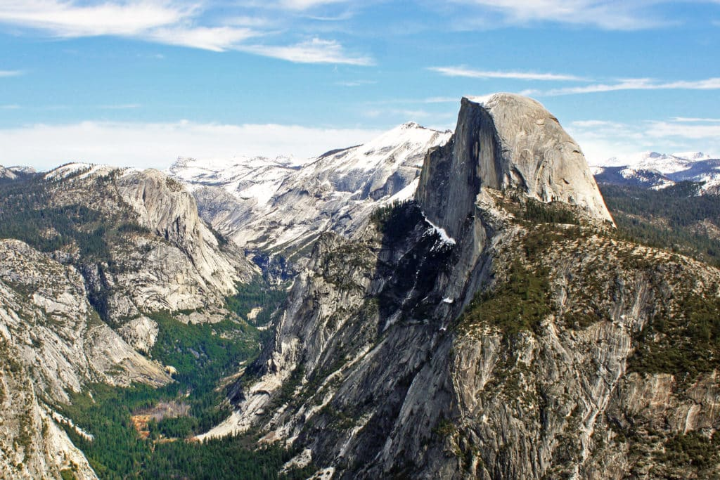 Vista a partir do Glacier Point, mirante alto no parque