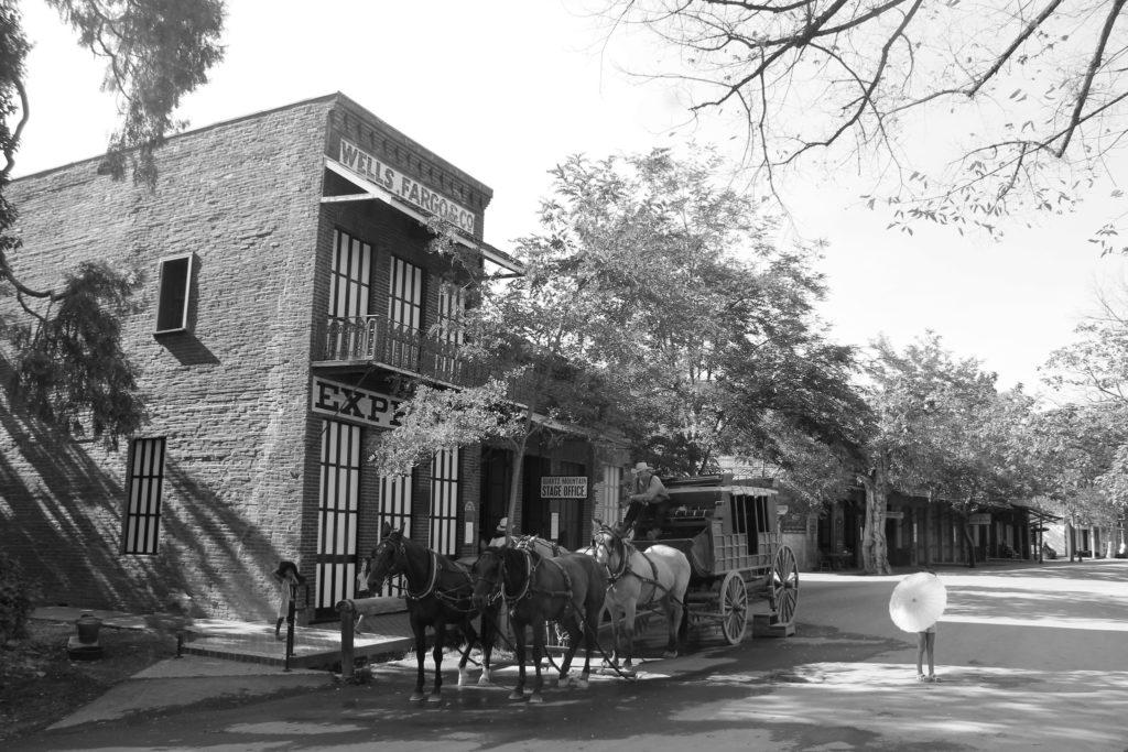 Foto de prédios históricos do velho oeste no Gold Country California